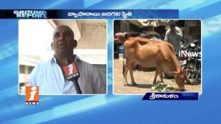 Small Business Owners Suffer In Potti Sriramulu Market In Srikakulam | Ground Report | iNews