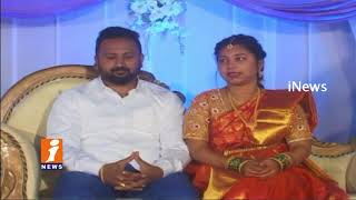 New Marriage Couple Donate Money To Farmers At Wedding Reception In Sangareddy | iNews