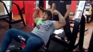 sangram chougule chest workout at physc gym