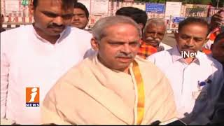 Govt Advisor  Parakala Prabhakar And EX DGP Dinesh Reddy Visits Tirumala Temple | Tirupati | iNews