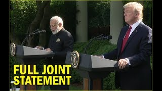 President Trump and PM Modi Joint Statement | FULL VIDEO | Trump-Modi meeting