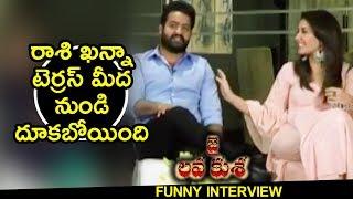 NTR Making Fun On Raashi Khanna - Jai Lava Kusa Team Funny Interview || Nivetha Thomas, Raashi