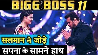 Salman Khan JOINS Hands In Front Of Sapna Chaudhary - Bigg Boss 11