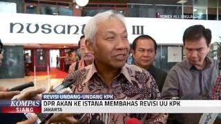 Bahas Revisi UU KPK, DPR ke Istana