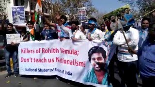 #JusticeForRohit - Student protesting in support of Rohit Vemula