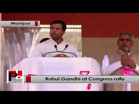 Rahul Gandhi- Congress party has connected Manipur with railway lines