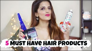 My Top 5 Must Have Hair Products Every Girl Should Own/ For Thick & Healthy Hair- Haircare Tips