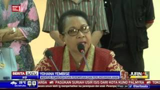 Menteri Yohana Berikan Mainan Anak-anak Korban Eksploitasi