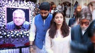 Om Puri's PRAYER Meet - Amitabh Bachchan, Aishwarya Rai, Abhishek Bachchan