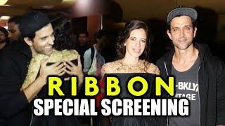 Hrithik Roshan At Kalki Koechlin's RIBBON Movie Screening