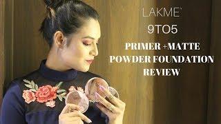 Lakme 9 to 5 Primer + Matte Powder Foundation Compact   short review
