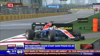 Rio Haryanto Start di Depan Lewis Hamilton