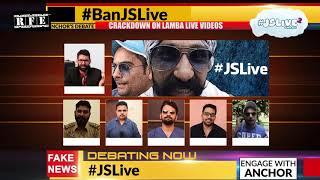 Media Crackdown Funny Scene (Live Debate) | #JSLive2 | Punjabi Funny Comedy Scenes 2017