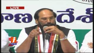 TPCC Chief Uttam Kumar Reddy Speaks To Media At Gandhi Bhavan | Hyderabad | iNews