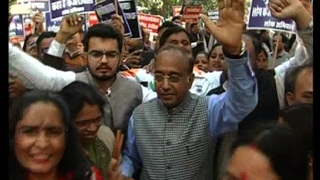 'आप' के खिलाफ भाजपा ने शुरू किया 'दिल्ली बचाओ आंदोलन', निकाला रोष मार्च