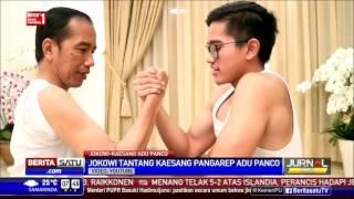 Jokowi dan Kaesang Adu Panco, Siapa Menang?