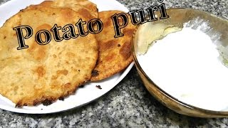 Potato puri / aloo puri  recipe