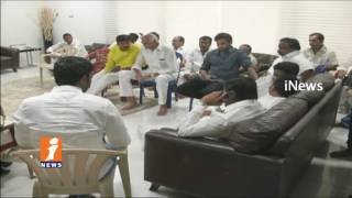 TDP Ministers And MLA's Consoling Devineni Nehru Family | Vijayawada | iNews