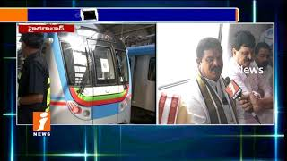 Political Leaders Travels In Hyderabad Metro Rail | Bandaru Dattatreya Face To Face | iNews