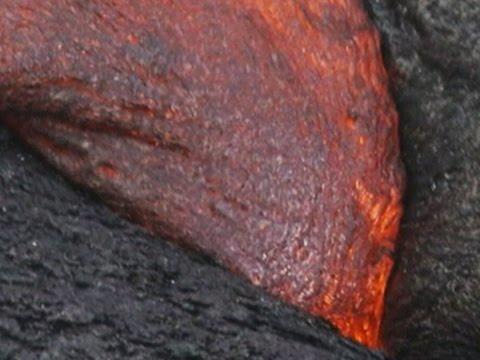 Raw- Molten Lava Consumes Shrubs in Pahoa News Video