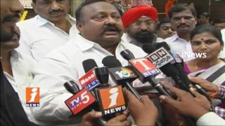 TRS MLA Gangula Kamalakar Perform Coolie Works For party plenary Funds  | iNews