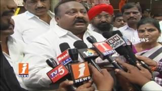 TRS MLA Gangula Kamalakar Perform Coolie Works For party plenary Funds  | iNews
