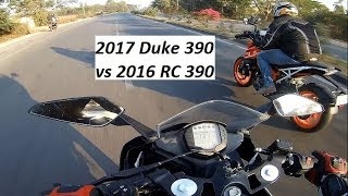 2017 Duke 390 vs 2016 RC 390. My RC 390 is back in Action.