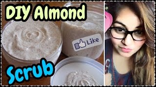 Almond Scrub For Skin Whitening And Glowing Skin | DIY Natural Scrub at Home | JSuper Kaur