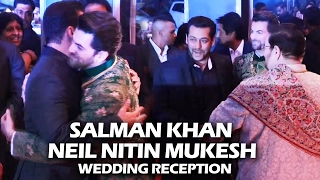Salman Khan's GRAND ENTRY At Neil Nitin Mukesh's Wedding Reception
