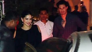 Sunny Leone With Husband Daniel On LATE NIGHT Dinner Date