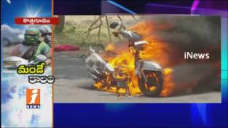 Record Level Temperature in Bhadradri Kothagudem | People Pouring Dosas on Roads | iNews