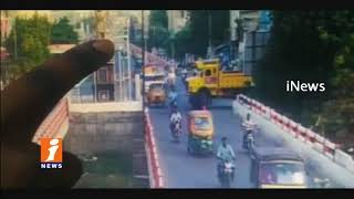 Caught on Cam | Breaks Fail RTC Bus Hits  Public in Vijayawada | iNews