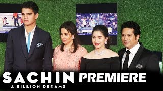 Sachin Tendulkar With Family At Sachin A Billion Dreams GRAND PREMIERE