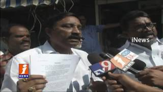 Vijayawada municipal Workers Stages Dharna | Demands to Regularize | iNews