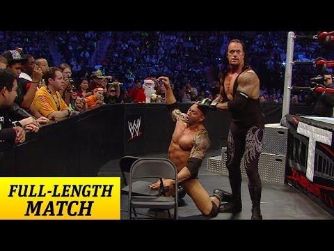 FULL-LENGTH PPV MATCH - TLC 2009 - Undertaker vs. Batista - World Title Chairs Match - WWE Wrestling Video