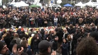 Raw- Hundreds Honor Brussels Attack Victims News Video