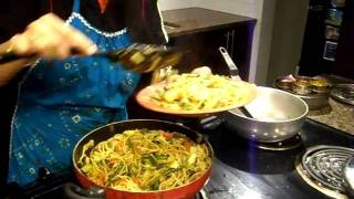 Indo-Chinese noodles recipe, Hakka Noodles Recipe, Veg stir fry