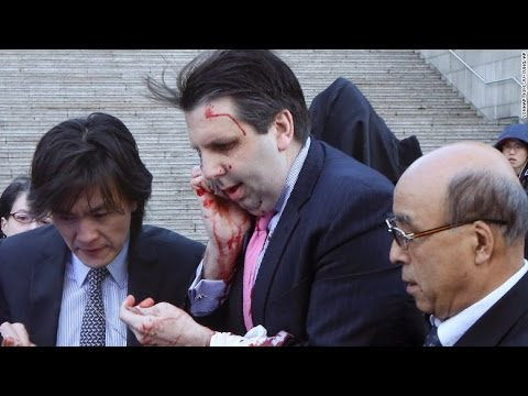 North Korea applauds 'Knife attack of Justice' on U.S. Ambassador News Video