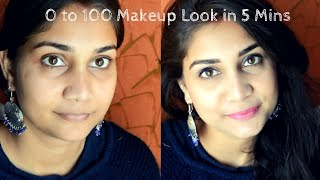 How To - Office Makeup Under 10 Minutes | Quick everyday Makeup Look| Using  Affordable Products