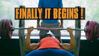 Finally IT BEGINS | First Vlog | Chest and Back Annihilation