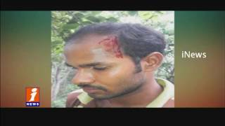 Police Cumbing in Chittoor | Smugglers Attack On Police with Stones | iNews