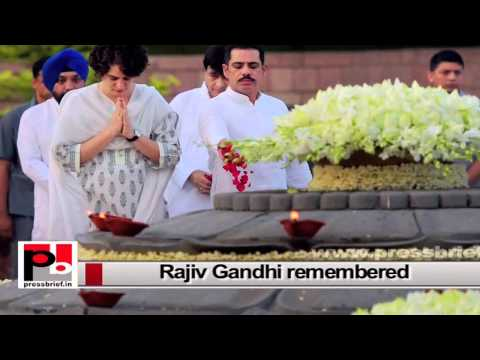 Sonia Gandhi, Rahul Gandhi and Priyanka pay tributes to Rajiv Gandhi on his 70th birth anniversary