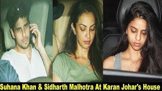 Suhana Khan and Sidharth Malhotra Spotted At Karan Johar's House