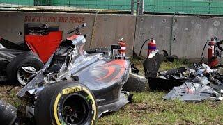 Formula One- Fernando Alonso Walks Away From Horror Crash in Australian Grand Prix - Sports News Video