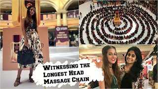 Day In My Life- Watch The Guinness World Record For The Longest Head Massage Chain Being Created