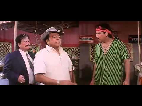 Govinda, Johnny Lever and Kader Khan Comedy Scene - Dulhe Raja - Bollywood Movie Comedy Scene