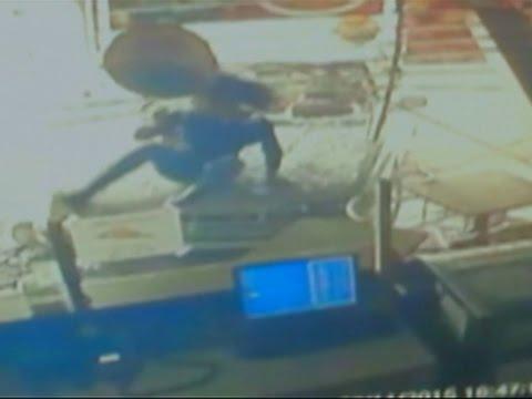 Raw- Car Plows Into Colorado Pizza Shop News Video