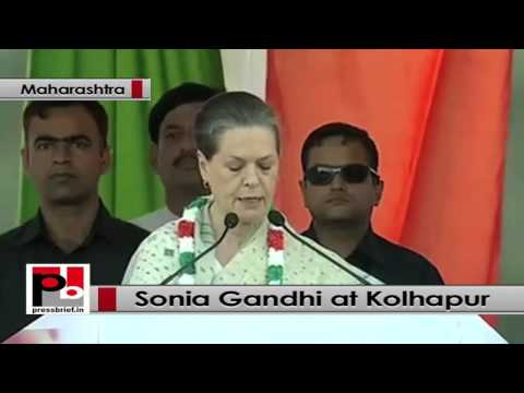 Sonia Gandhi in Maharashtra- BJP, Shiv Sena can do anything to grab power