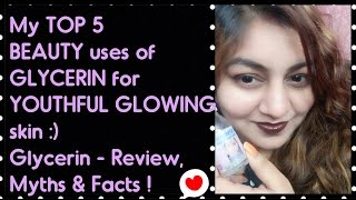 GLYCERIN - My TOP 5 BEAUTY Uses & Benefits for SOFT GLOWING skin | GLYCERIN - Review, Myths & Facts