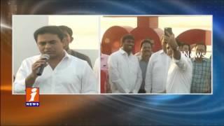Minister KTR Launches Love Hyderabad Symbol  At Tank Bund | Hyderabad | iNews